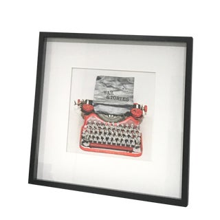 War Stories, Limited Edition Photograph, Typewriter, Vintage, Soldiers, Framed For Sale