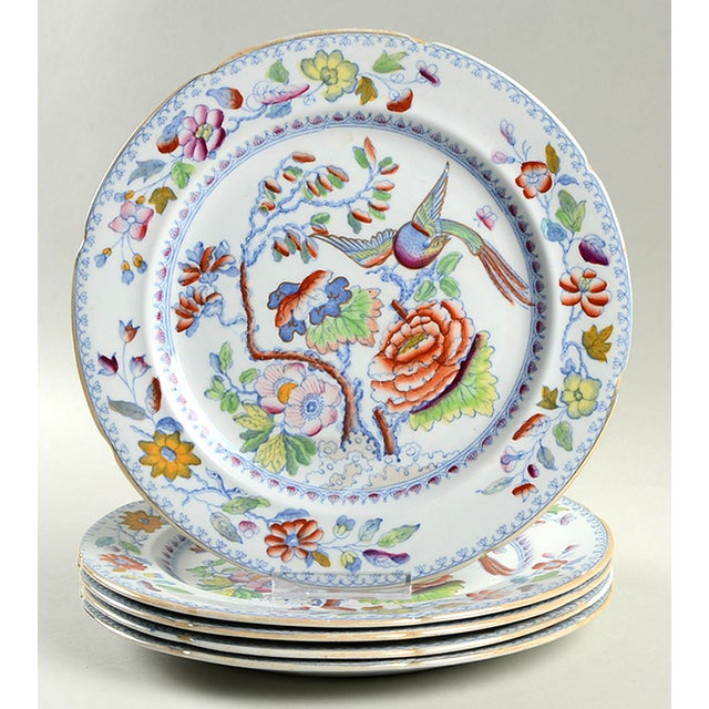 Ceramic Mason's Luncheon Plate - Set of 5 For Sale - Image 7 of 7