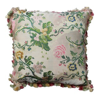 Late 20th C. Italian Silk Velvet Scalamandre Pillow For Sale
