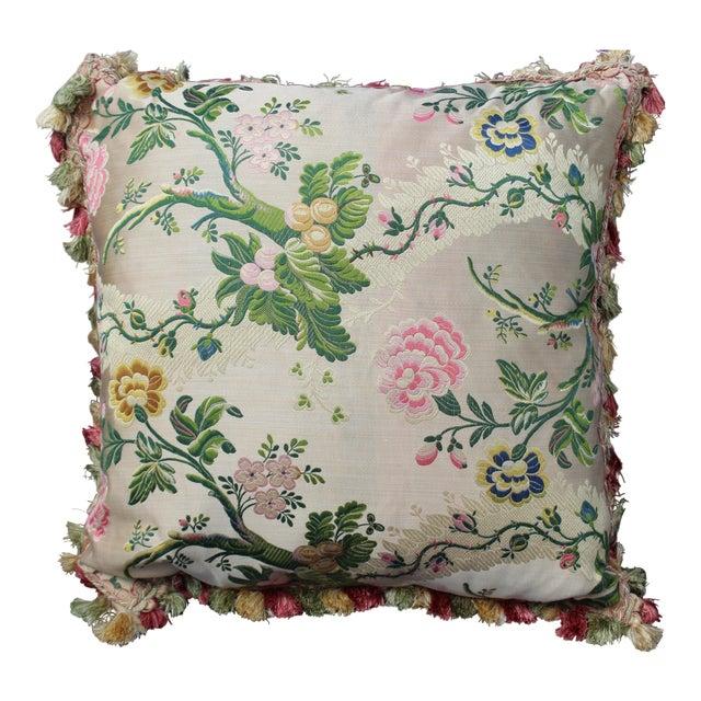 Late 20th C. Italian Silk Velvet Scalamandre Pillow For Sale