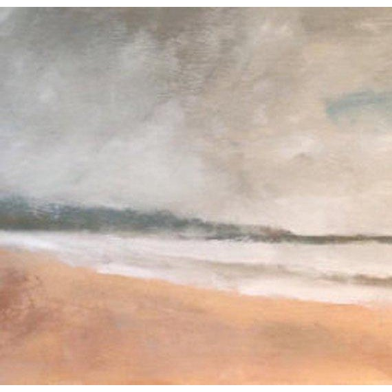 Contemporary Rolling Fog Limantour Beach Point Reyes Seashore Painting For Sale - Image 3 of 7
