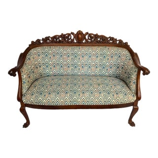 Antique Clawfoot Loveseat For Sale