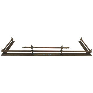 French Mid Century Brass Fireplace Fender For Sale