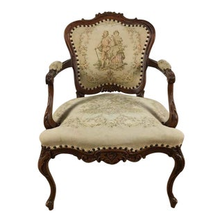 Vintage Walnut Armchair