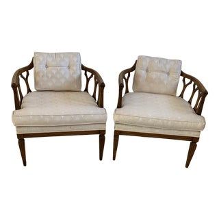 1950s Vintage Barrel Style Side Chairs - a Pair For Sale