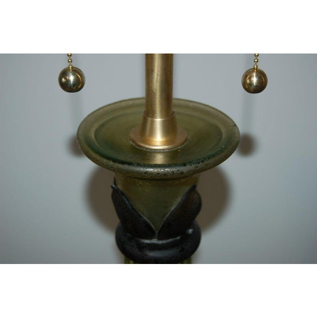 Marbro Murano Glass Table Lamps Green For Sale - Image 9 of 10