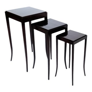 Art Deco Barbara Barry by Baker Nesting Tables - Set of 3