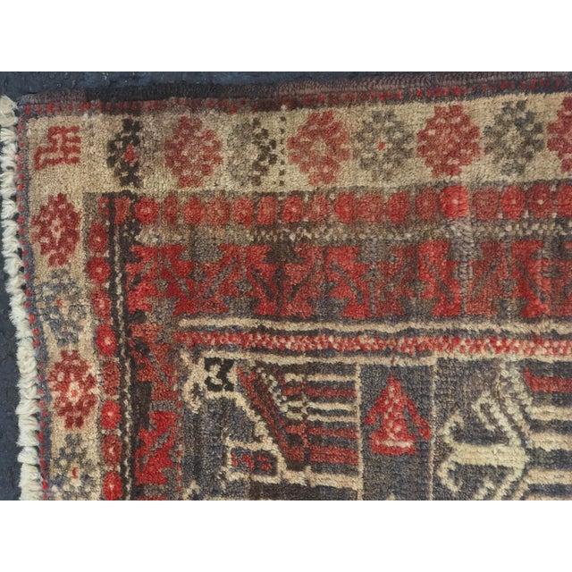 "Vintage Persian Baluchi Rug - 2'6""x3'5"" - Image 7 of 11"