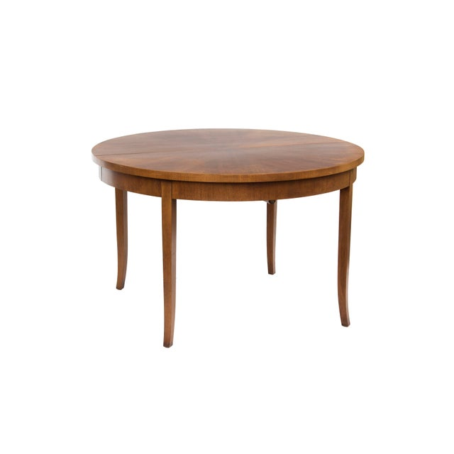 Hollywood Regency Round Dining Table by t.h. Robsjohn-Gibbings for Widdicomb, Model 4322 For Sale - Image 3 of 12