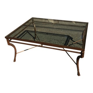 Minton Spidell Designer Glass Top Coffee Table