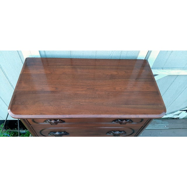 1948 Davis Cabinet Company Lillian Russell Black Walnut Chest of Drawers For Sale - Image 6 of 13