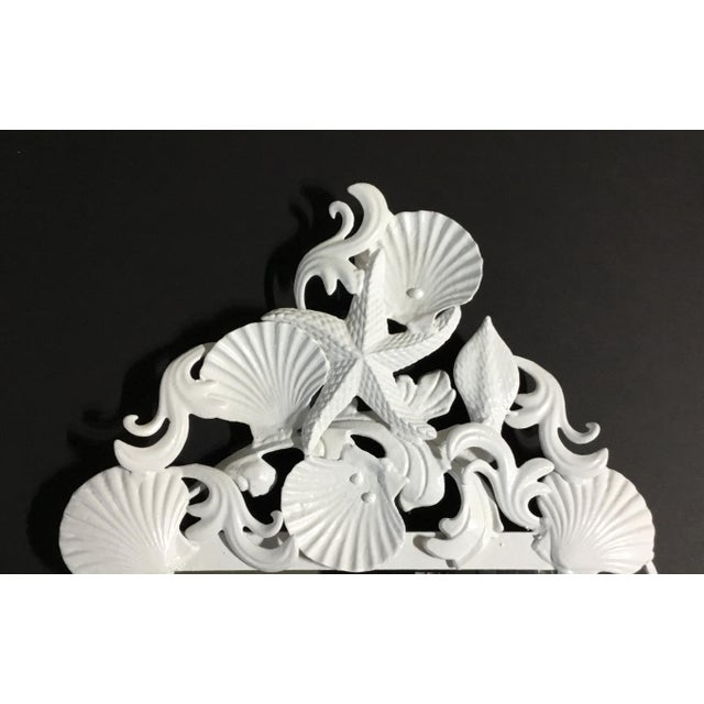 Glass White Sea Shell Mirror For Sale - Image 7 of 10