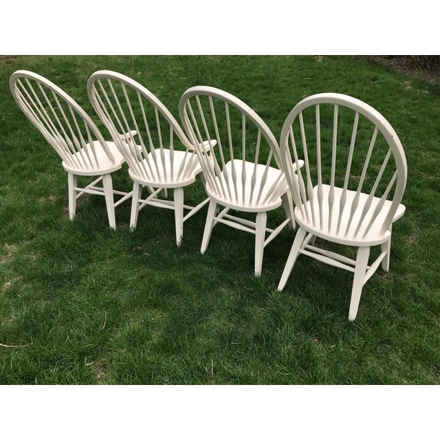 Farmhouse Windsor Chairs - Set of 4 - Image 5 of 9