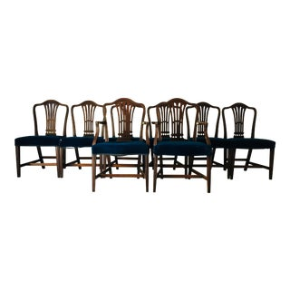 Antique Mahogany American Dining Chairs - Set of 8