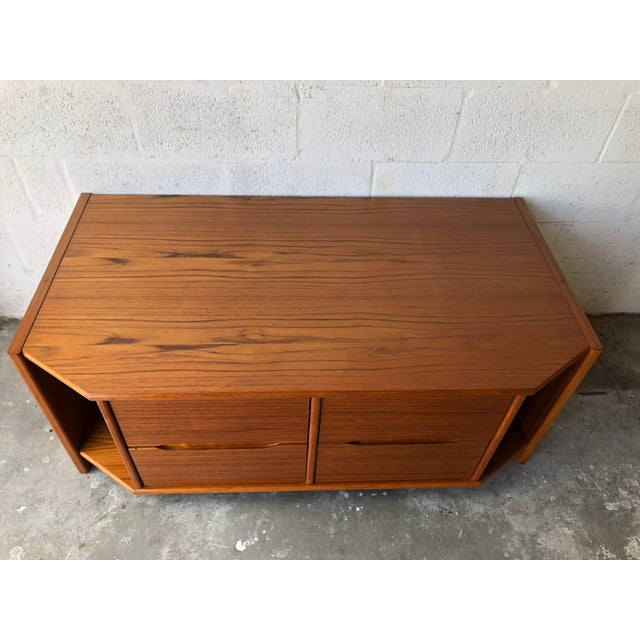 Vintage Danish Modern Tv Stand Media Console For Sale - Image 11 of 13