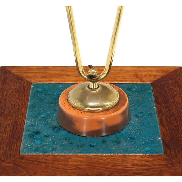 Sculptural Brass Table Lamp For Sale - Image 4 of 7