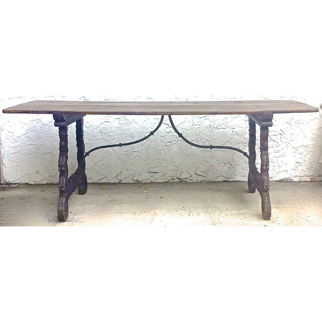 Antique 16th Century Spanish Refractory Table For Sale - Image 4 of 11