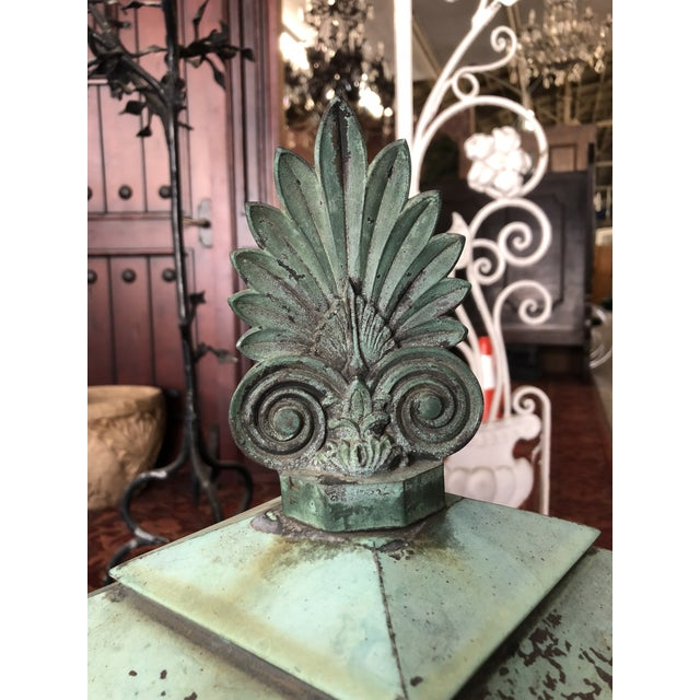 1910s 1910s Neoclassical Copper Lantern For Sale - Image 5 of 13
