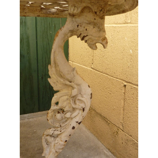 Antique Cast Iron Garden Table For Sale In Los Angeles - Image 6 of 6