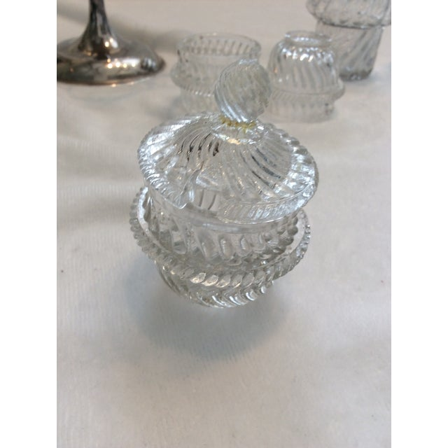 Glass Glass English Cruet Set - Set of 5 For Sale - Image 7 of 8