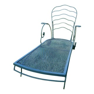 Vintage Cast Iron Chaise Lounge- 5 Available For Sale
