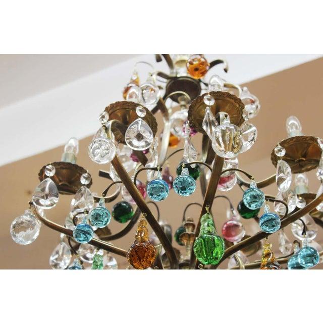 1950s Italian Mid Century Modern Murano Glass Fruit Chandelier For Sale - Image 9 of 13
