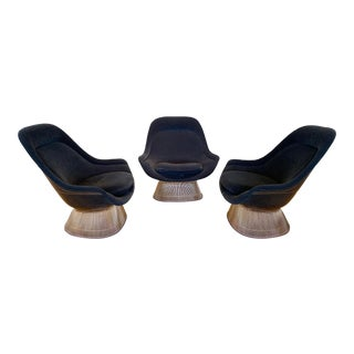 Warren Platner for Knoll 18-Karat Gold Plated Easy Chairs For Sale
