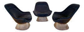 Image of Navy Blue Accent Chairs