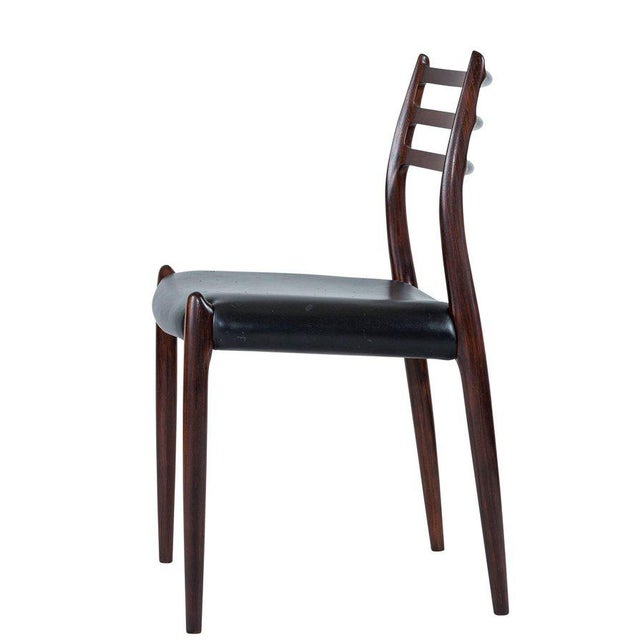 1960s Set of Six Niels Møller Dining Chairs Model #78 For Sale - Image 5 of 10