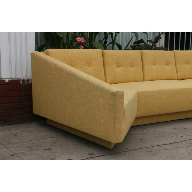 Yellow Sectional Sofa - Image 6 of 11