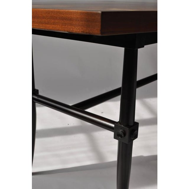 Brown Rare Dining Table by Tommi Parzinger For Sale - Image 8 of 9