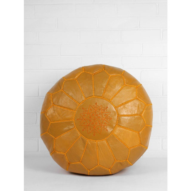 Moroccan leather pouf ottoman; also know as a Moroccan footstool, is made out of 100% genuine soft goat leather. Used as a...