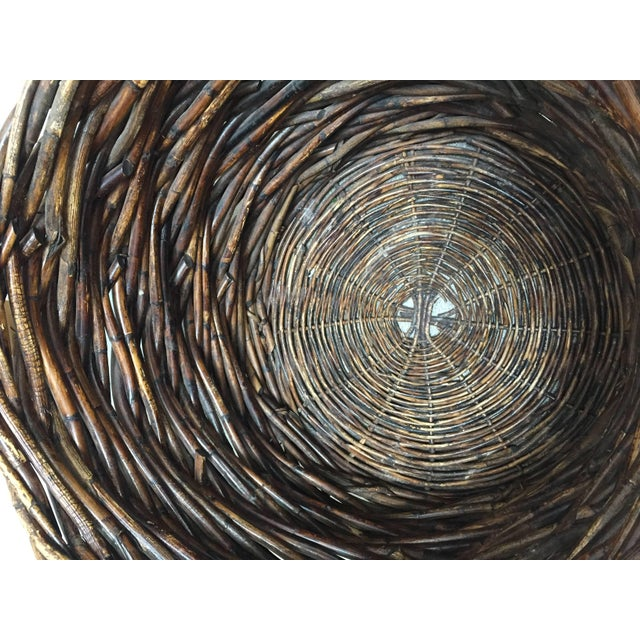 Mid 20th Century French Vintage Oversized Harvest Wicker Basket For Sale - Image 5 of 10