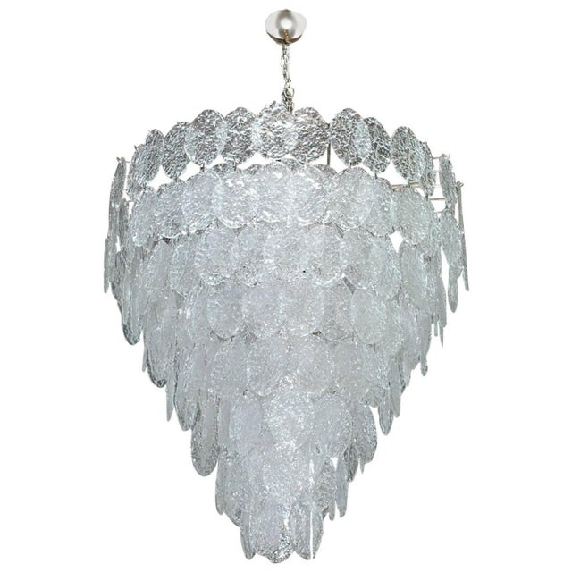 Italian Murano Oval Glass Discs Chandelier by Vistosi For Sale In Palm Springs - Image 6 of 6