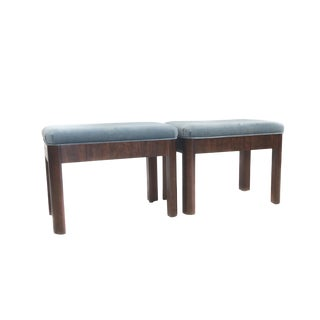 Drexel Mid Century Modern Foot Stools/Ottomans - A Pair For Sale