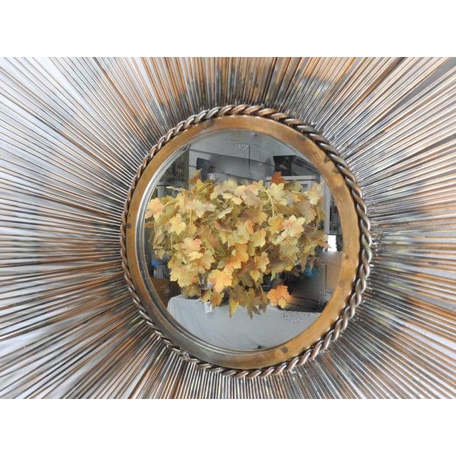 Mid-Century Modern Style Sunburst Mirror | Chairish