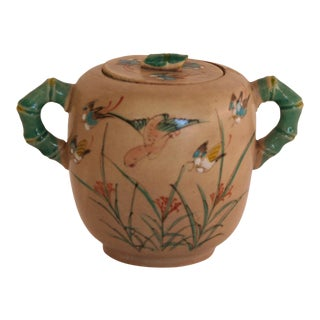 Antique Hand-Painted Japanese Sugar Bowl