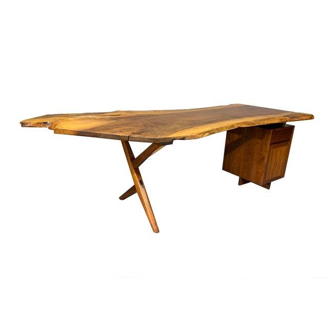 George Nakashima George Nakashima Large Conoid Writing Desk For Sale - Image 4 of 13