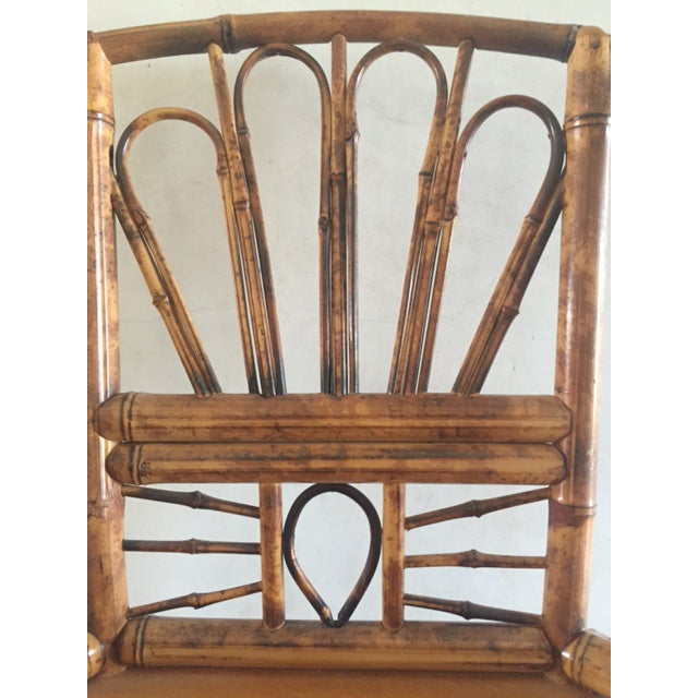 Vintage Bamboo Chinoiserie Accent Chair For Sale - Image 4 of 11
