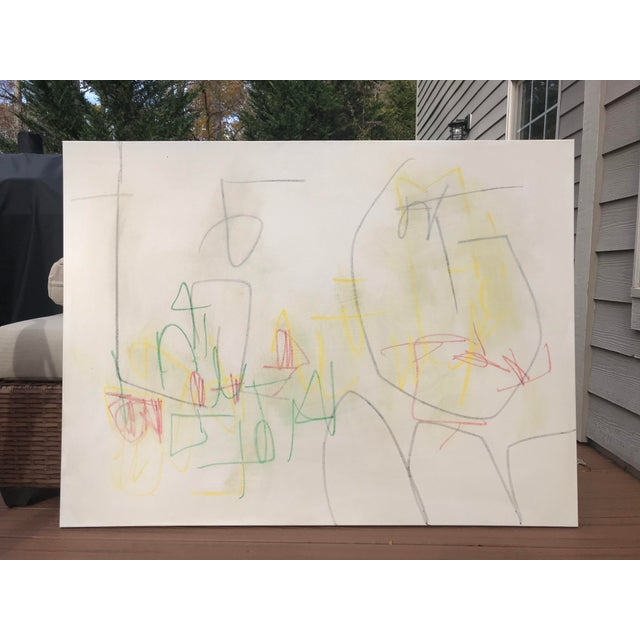 """Abstract Sarah Trundle, """"Primary"""", Contemporary Minimalist Painting For Sale - Image 3 of 7"""