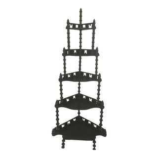 19th Century Victorian Jenny Lind Spindle Shelf For Sale