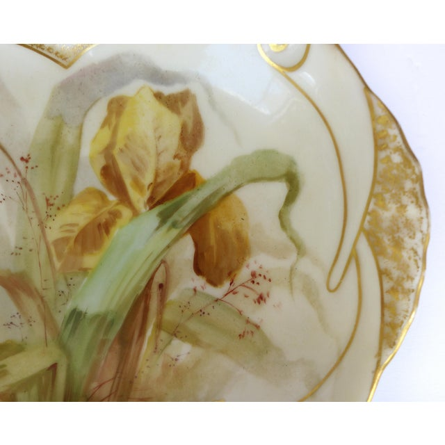 1900 J. Etienne Hand-Painted Limoges Porcelain Fish Platter For Sale In Miami - Image 6 of 11