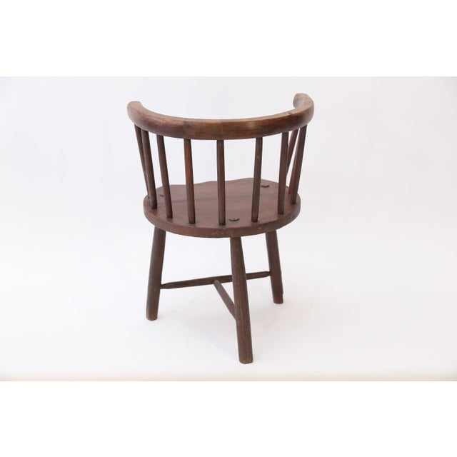 Folk Art Scottish Horseshoe Back Chair For Sale - Image 3 of 12