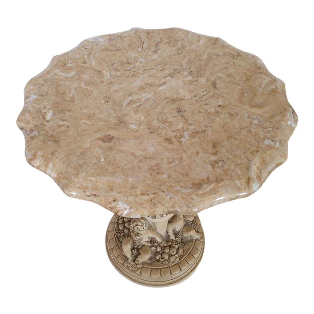 Italian Carved Marble Top Table - Image 1 of 5