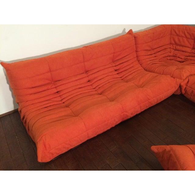 Michel Ducaroy for Ligne Roset Orange Togo Sofas - Set of 3 - Image 3 of 11