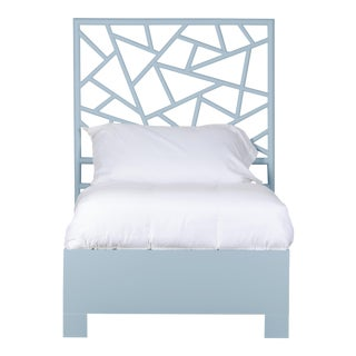 Tiffany Bed Twin Extra Long - Blue For Sale