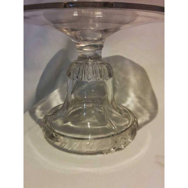 American Frosted Eagle Glass Lidded Compote - Image 7 of 7