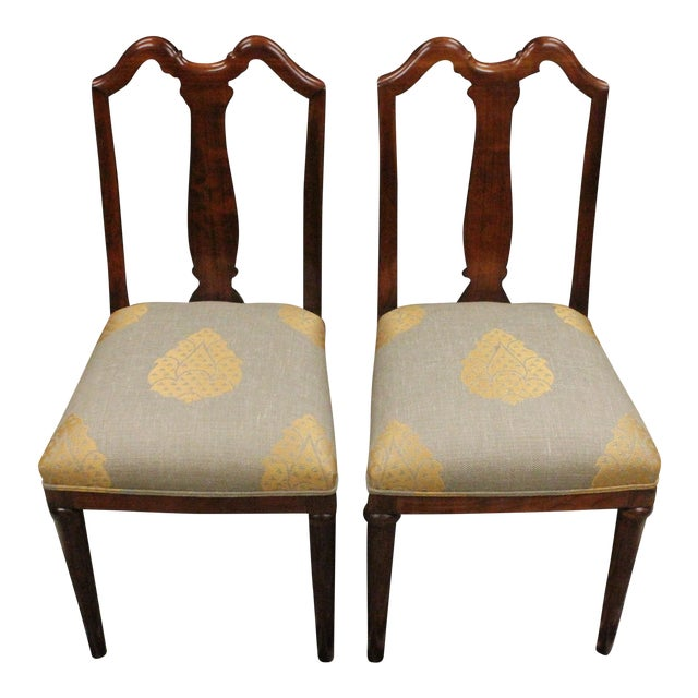 Mahogany Side Chairs - A Pair For Sale