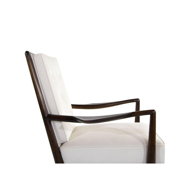 Cotton T.H Robsjohn-Gibbings Wing Arm Lounge Chairs - a Pair For Sale - Image 7 of 11