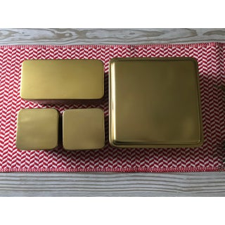 Ballard Designs Modern Brass Nesting Boxes - Set of 4 Preview